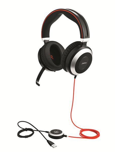Jabra Evolve 80 MS Stereo USB & 3.5mm Headset