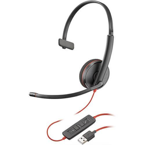 Plantronics Blackwire 3210 Corded USB Monaural UC Corded Headset