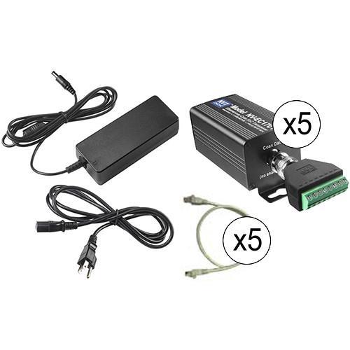 NVT Phybridge NV-EC1701-K4H Ethernet/PoE to Coax Kit