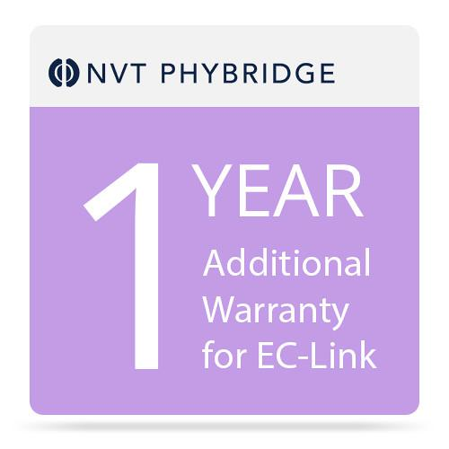 NVT Phybridge NV-ECLK-MTNC-1 1-Year Additional Warranty for EC-Link