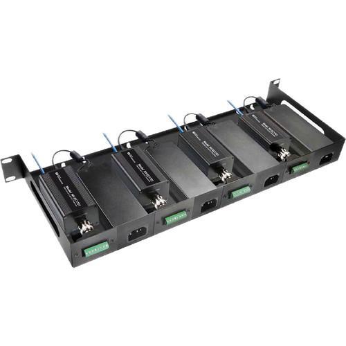 NVT Phybridge NV-RMEC16U-90 Rack Mount Tray Kit for Four Two-Wire Transceivers & Four 60/110W Power Supplies