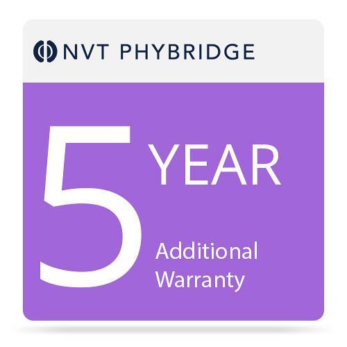 NVT Phybridge NV-ECLK-BSE-MTNC-5 5-Year Additional Warranty for EC-Base