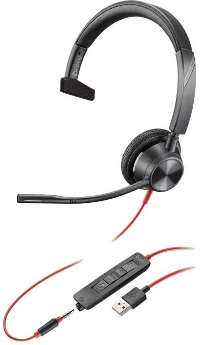 Plantronics Blackwire 3315 USB & 3.5mm Monaural Headset