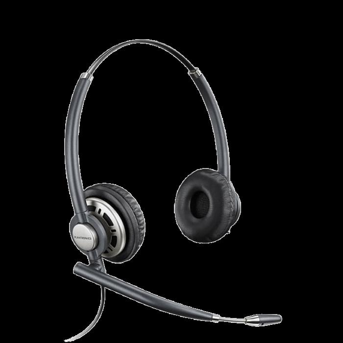 Plantronics EncorePro HW720D Binaural UC Digital Corded Headset - USB connector sold separately