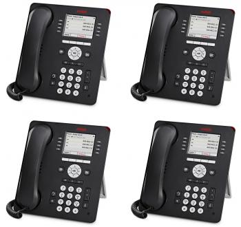 Avaya 9611G Global 4 Pack of Phones New