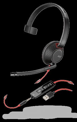 Plantronics Blackwire 5210 USB & 3.5mm Corded Mono UC Headset