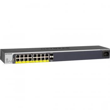 Netgear ProSAFE GS418TPP Easy-Mount 16-PortPoE+ Gigabit Smart Managed Switch with 2 SFP Ports