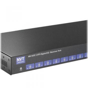 NVT Phybridge NV-1672 16 Channel Digital EQ Active Receiver Distribution Amplifier Hub