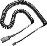 Plantronics 10-Foot, Coiled Cable Quick-Disconnect to Modular Plug New